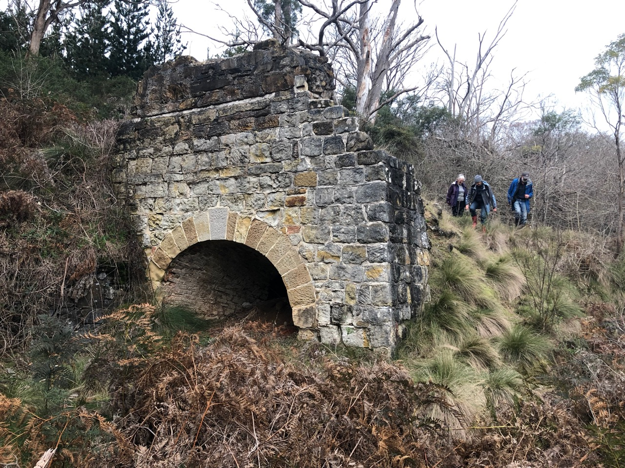 Figure 1: Middle Arm Convict Built Lime Kiln c. 1818. Photo: Darren Watton 2019.