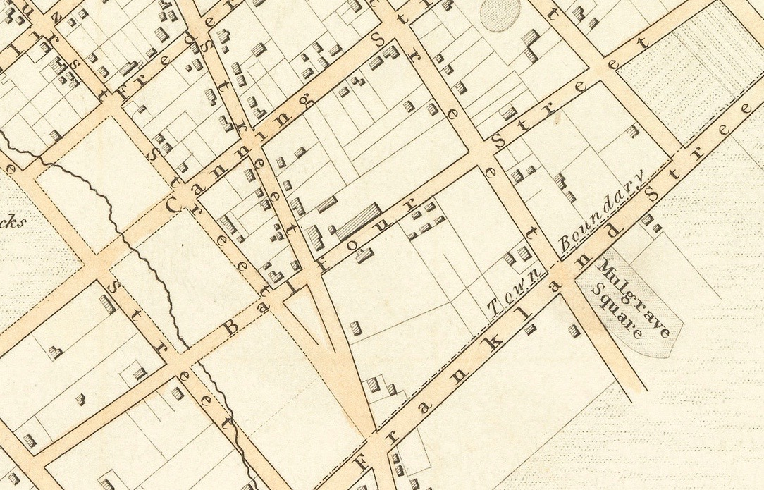 Section 1839 Frankland survey map. Source: Libraries Tasmania.